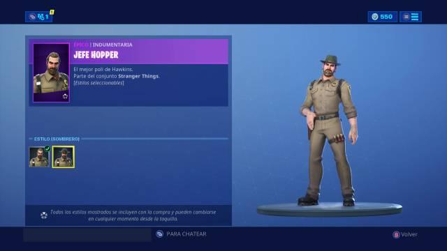 Fortnite Skin de Hopper