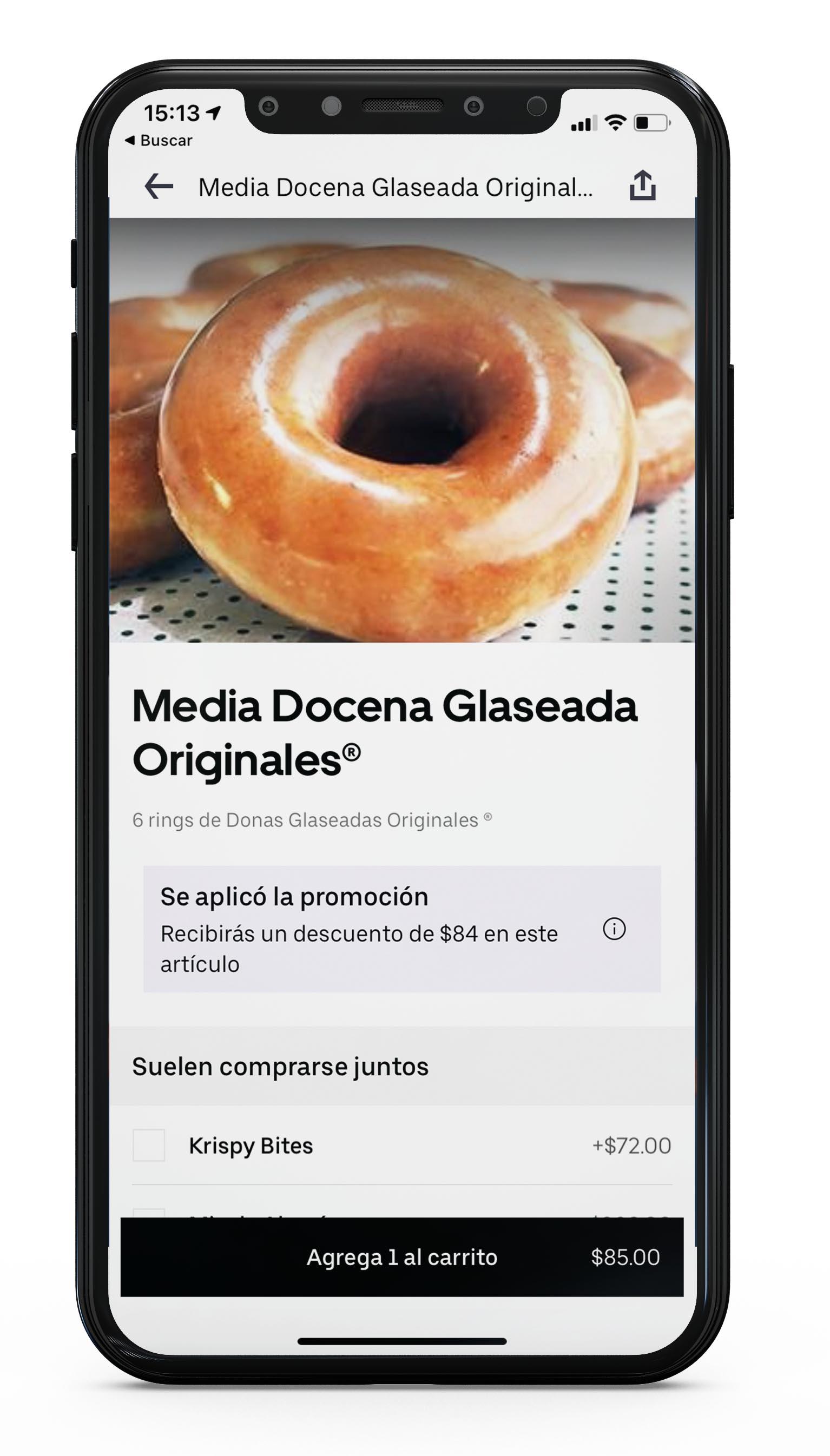 Uber Eats y Krispy Kreme lanzan un año de donas gratis
