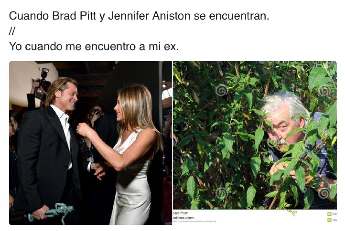 Memes de Brad Pitt y Jennifer Aniston en los SAG Awards