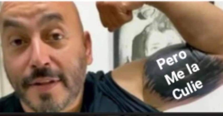 Memes de Lupillo Rivera se tapa el tatuaje de Belinda