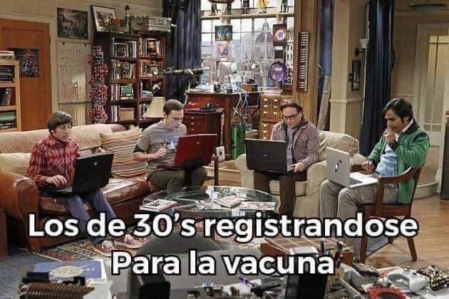 Memes de la Vacunación de personas de 30 a 39 años