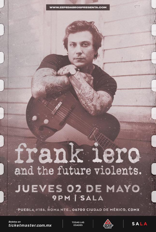 Frank Iero México 2019