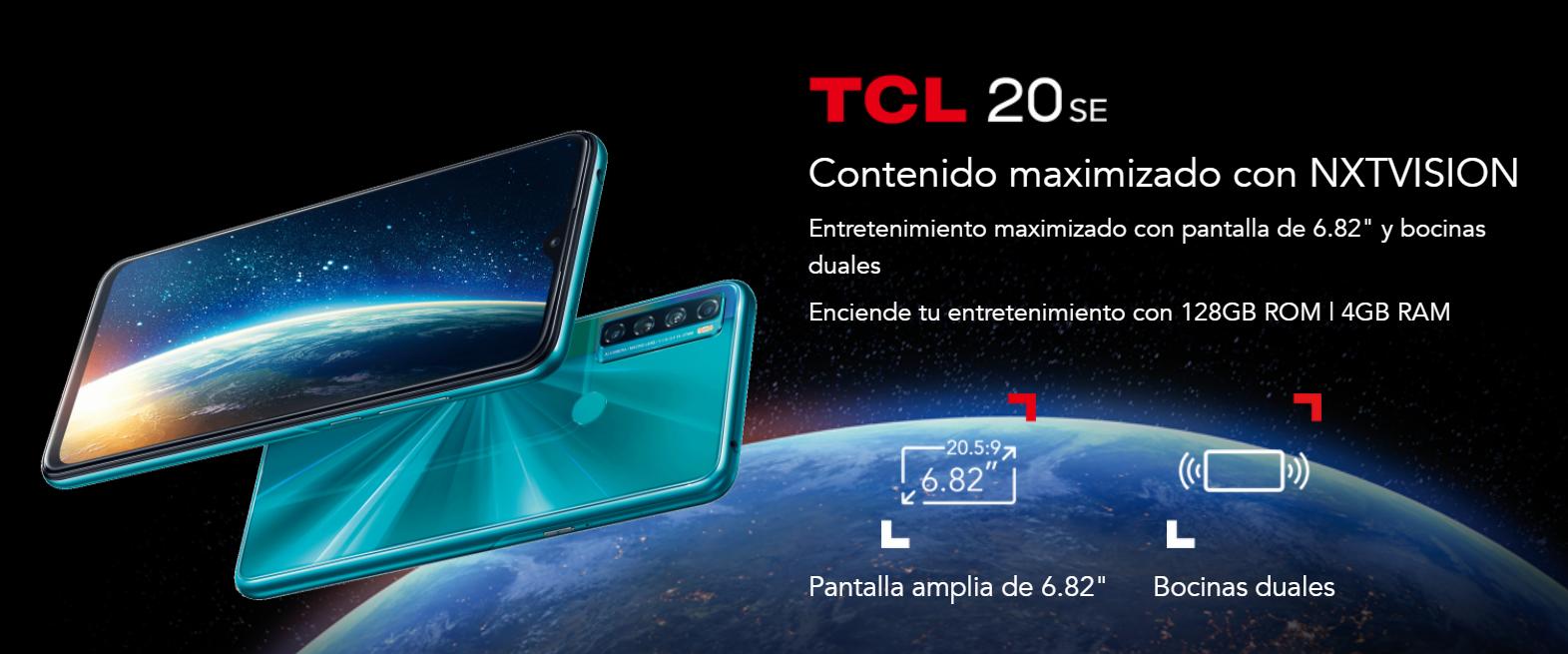 TCL Serie 20 llega a México con increíbles precios