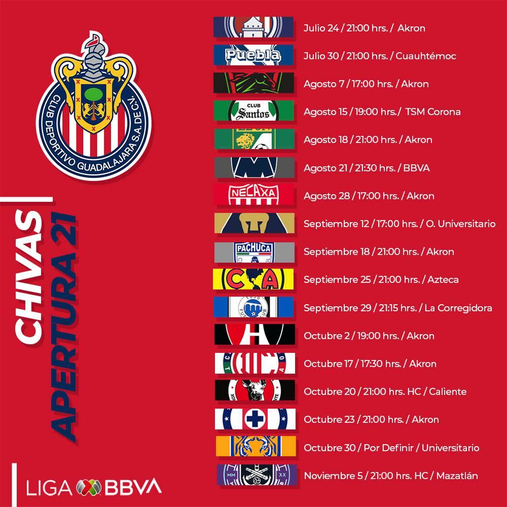Liga MX: Partidos de Chivas en exclusiva por Afizzionados en el Torneo Apertura 2021