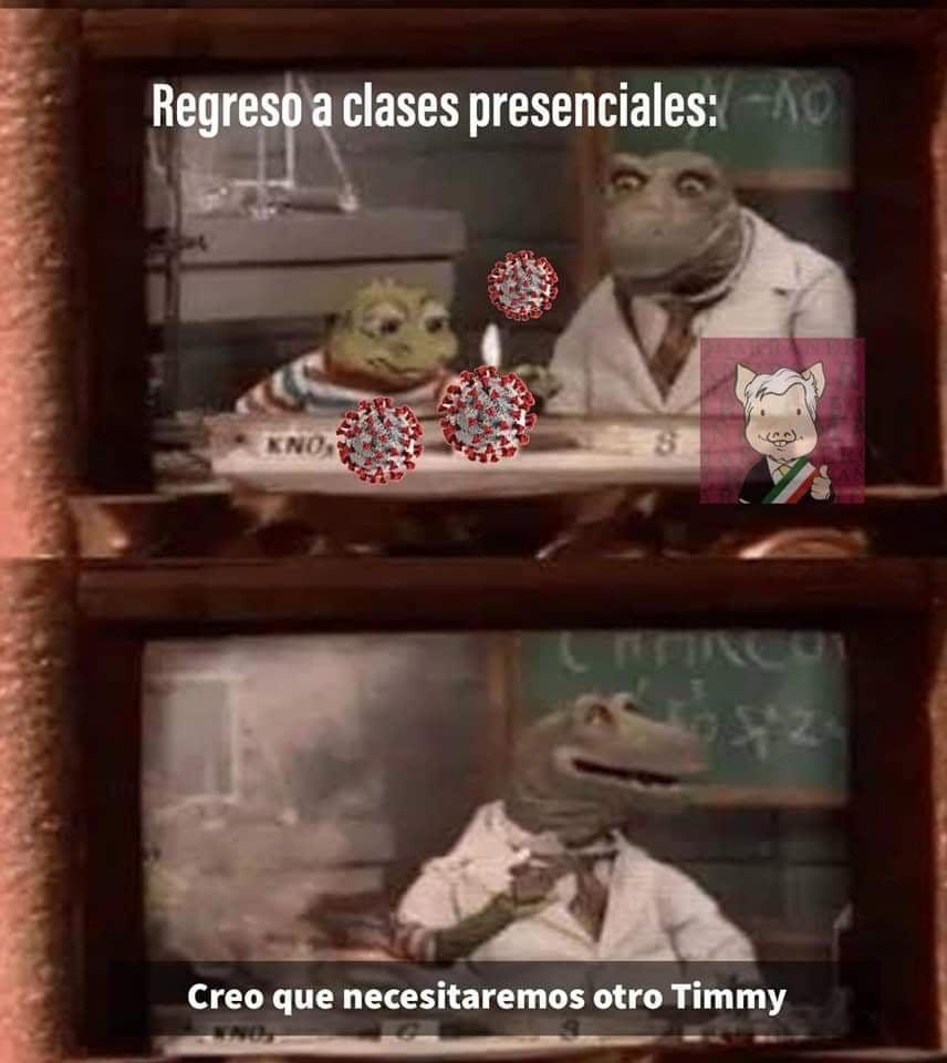 Memes del regreso a clases presenciales