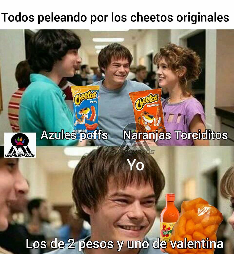¿Cuáles son los Cheetos normales?