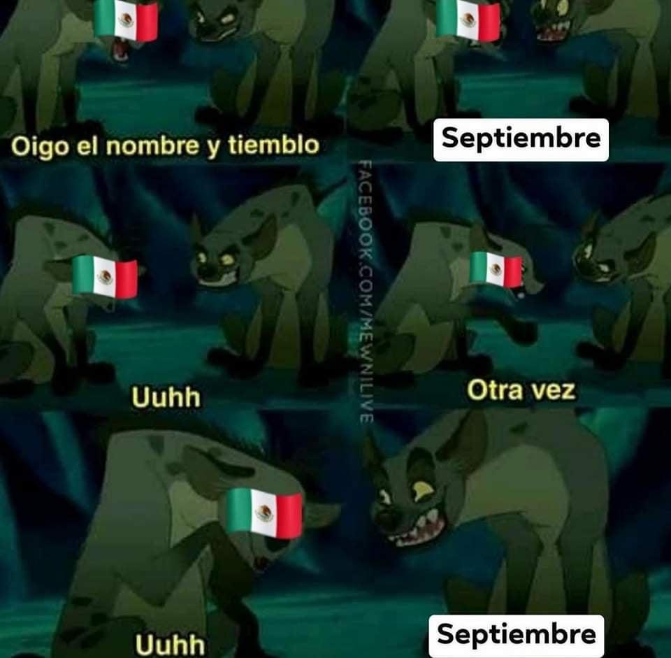 Memes del sismo en México