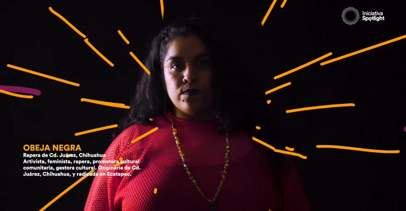 OBEJA NEGRA. Rapera originaria de Cd. Juárez, Chihuahua. Activista, feminista, promotora cultural comunitaria, gestora cultural.