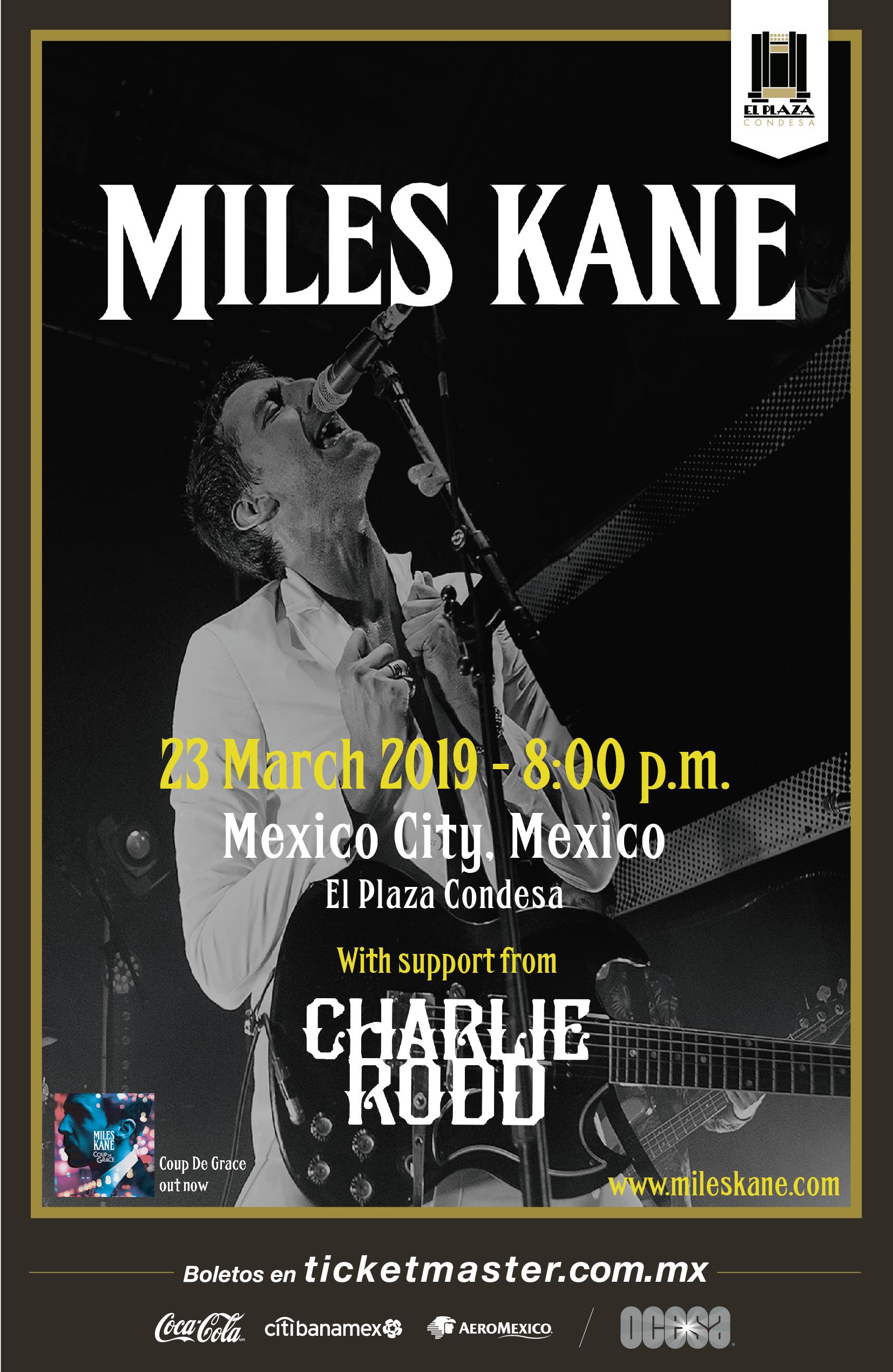 Miles Kane México 2019