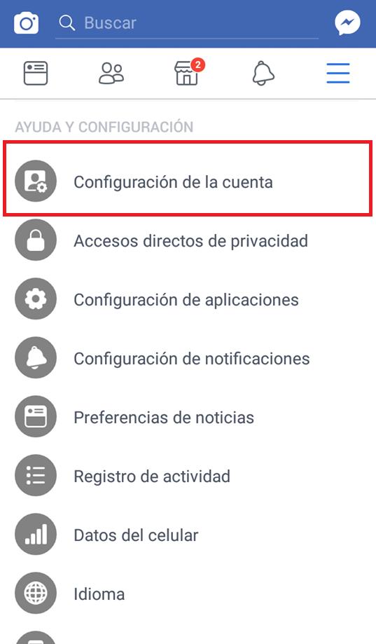 Desactivar ubicación en Facebook