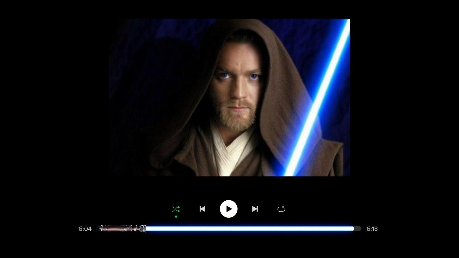 Truco de Spotify: Cómo poner espada láser de Star Wars como barra de reproducción
