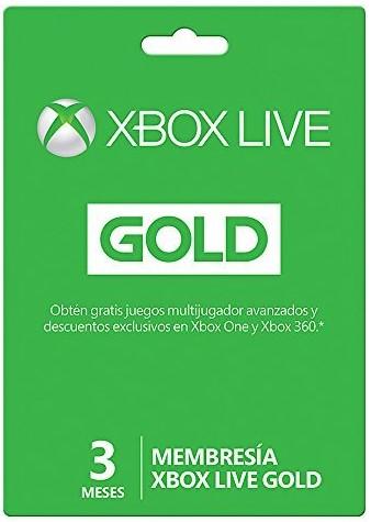 Xbox Live Gold (Suscripción de 3 meses)