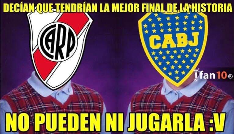 Memes de la Final suspendida de Copa Libertadores