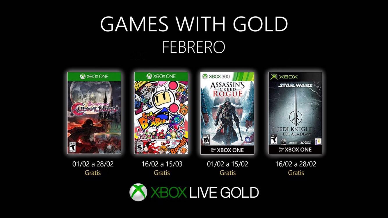 Xbox Games with Gold para febrero de 2019