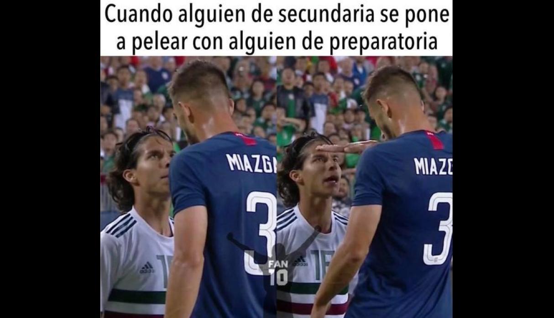 Meme jugador de EUA se burla de Diego Laine
