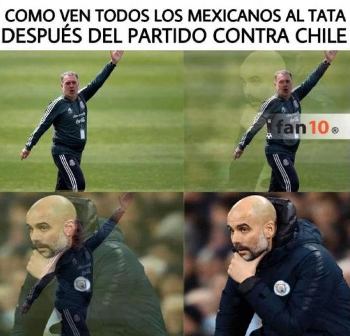 Memes del México vs Chile