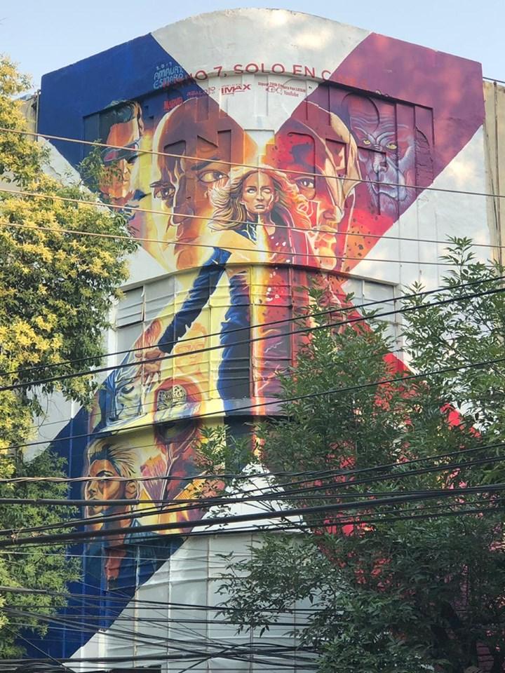 mural X-Men Dark Phoenix México