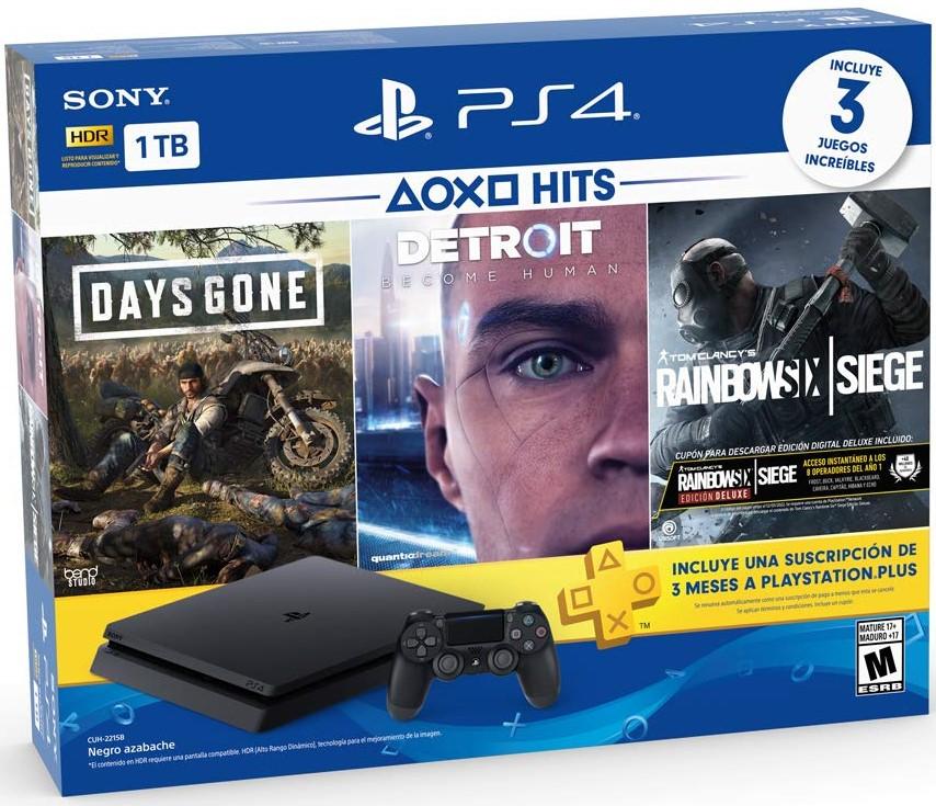 PlayStation 4 Hits 1TB con 3 juegos $5,499.00 Envío GRATIS