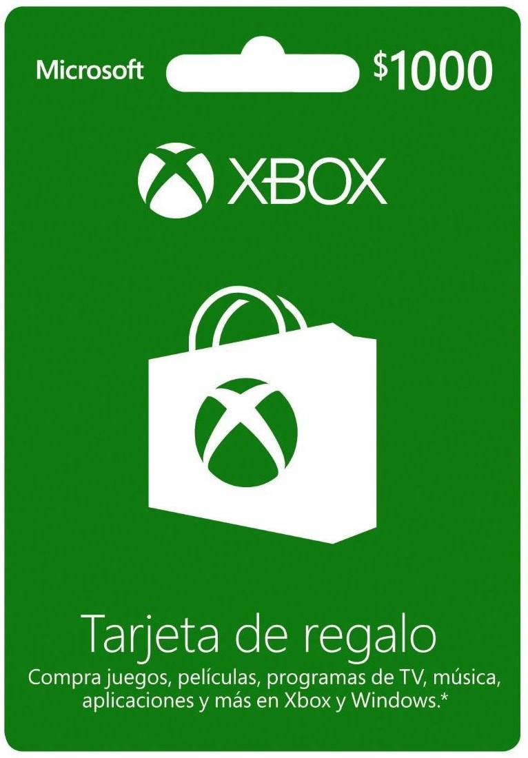 Xbox Gift Card 1000 MXN