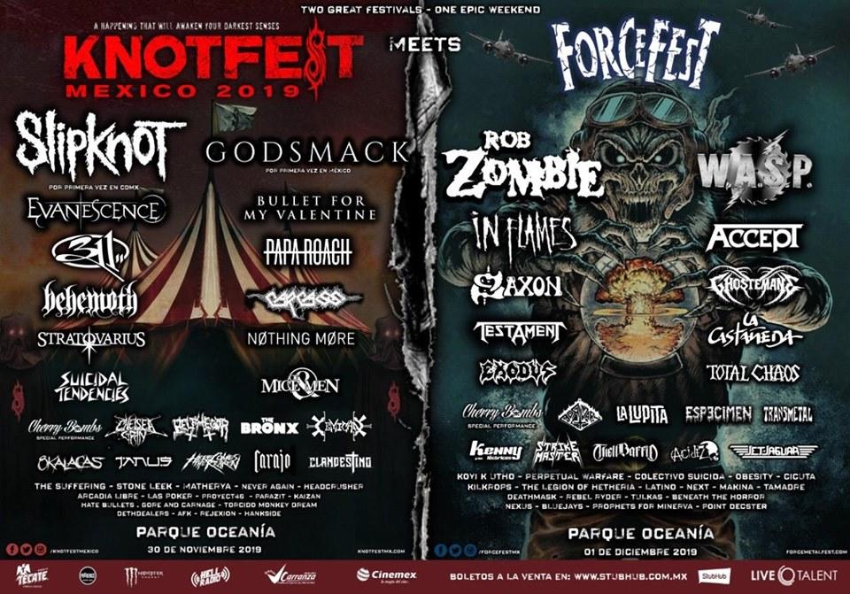 Cartel Knotfest Meets Force Fest 2019