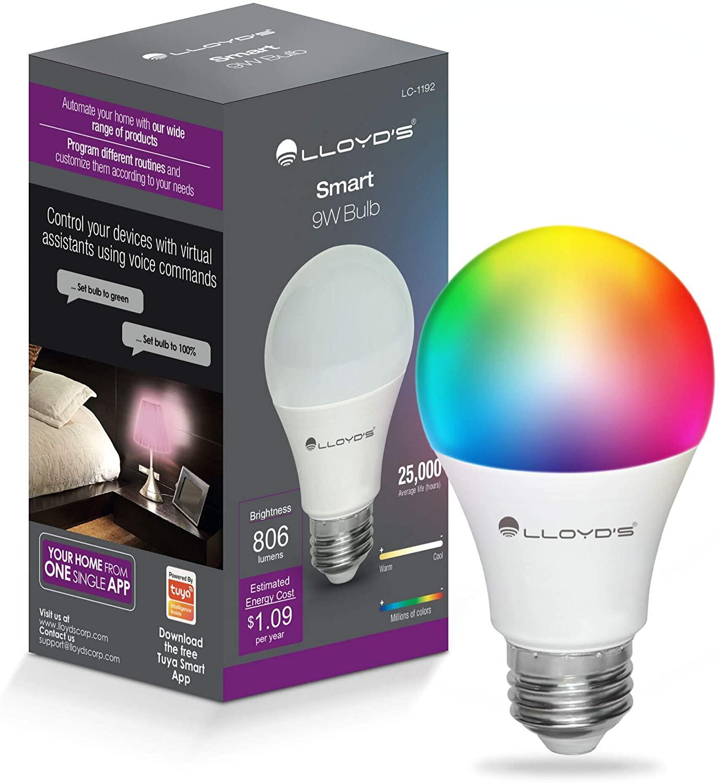 Foco Inteligente WiFi, Multicolor + Luz Blanca Fría y Cálida