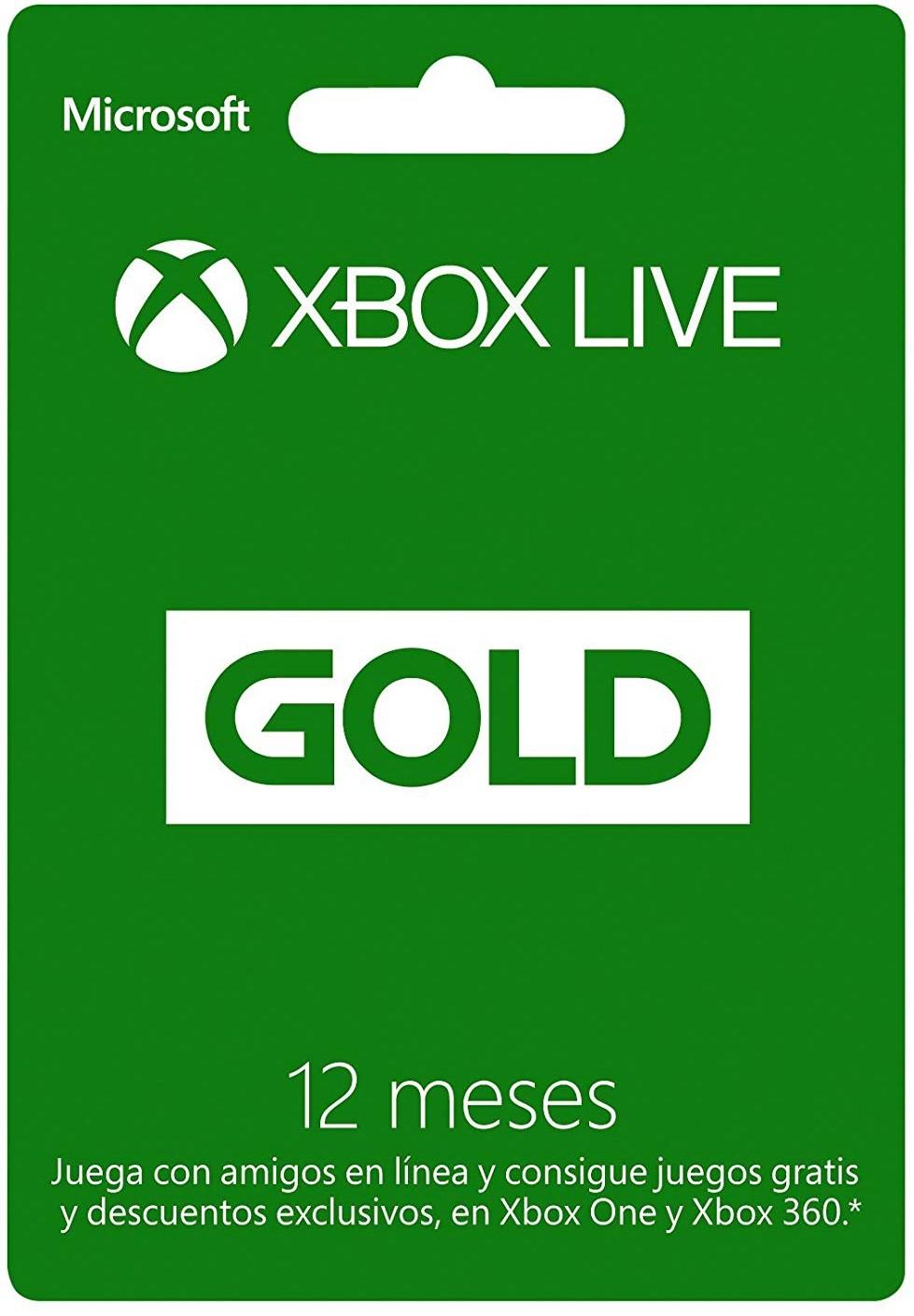 Xbox Live Gold (Suscripción de 12 meses)