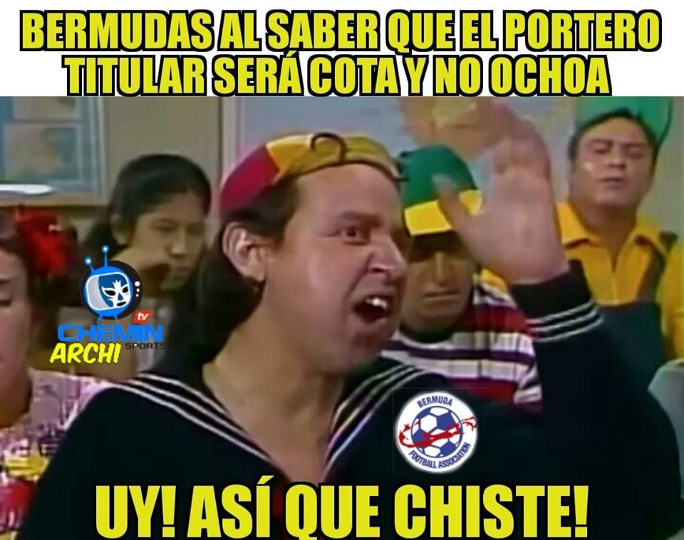 Memes de México vs Bermudas