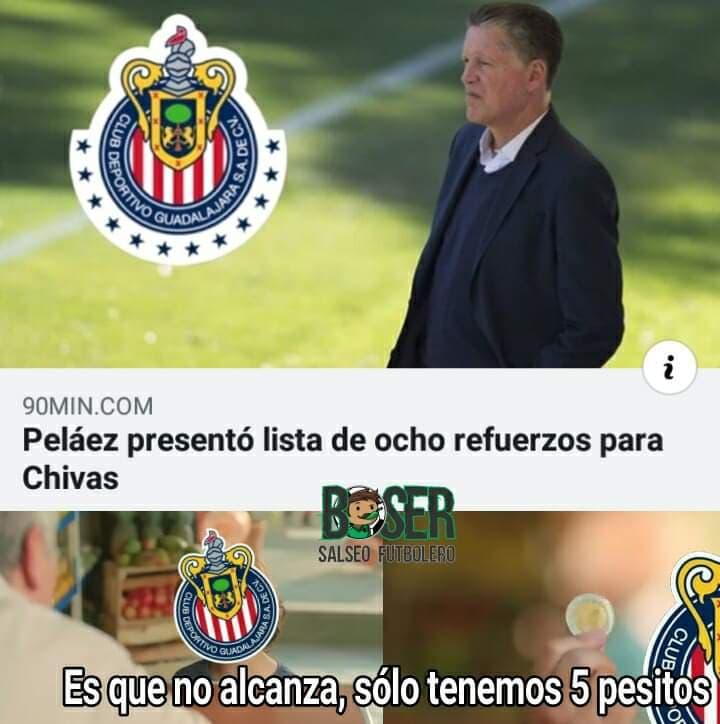 Memes de Peláez en las Chivas