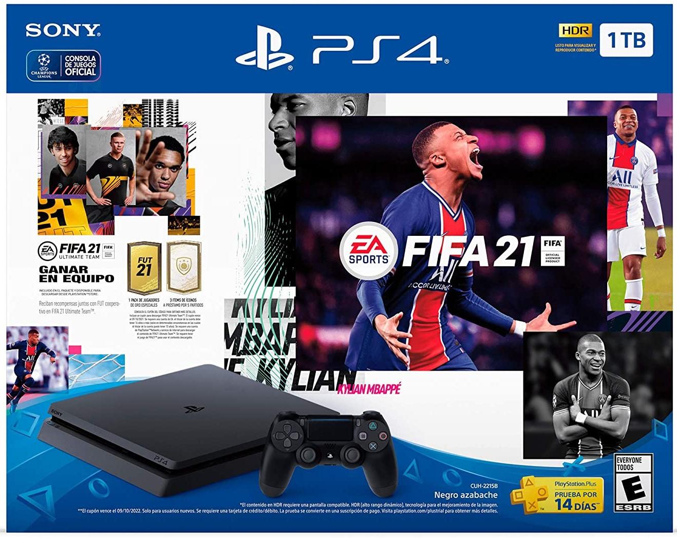 Consola PS4 Slim + FIFA 21