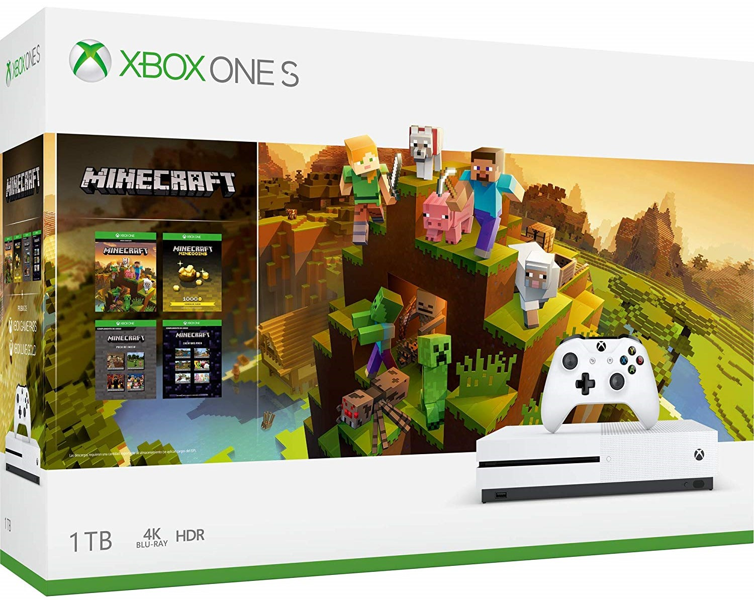 Consola Xbox One S, 1TB + Minecraft Holiday