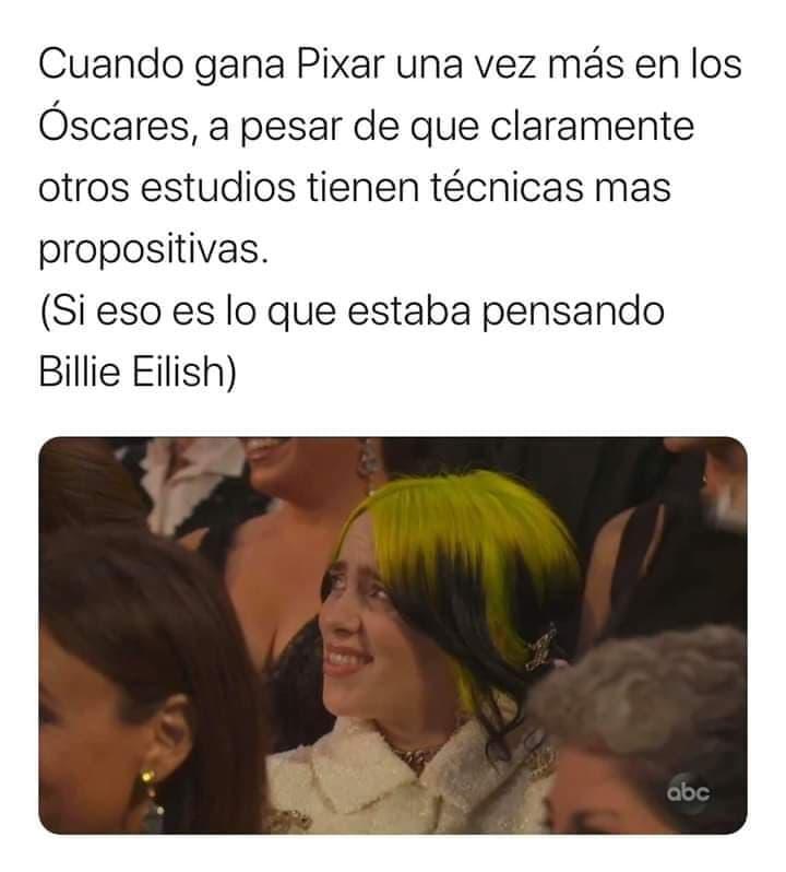 Memes de los Premios Oscar y la reacción de Billie Eilish