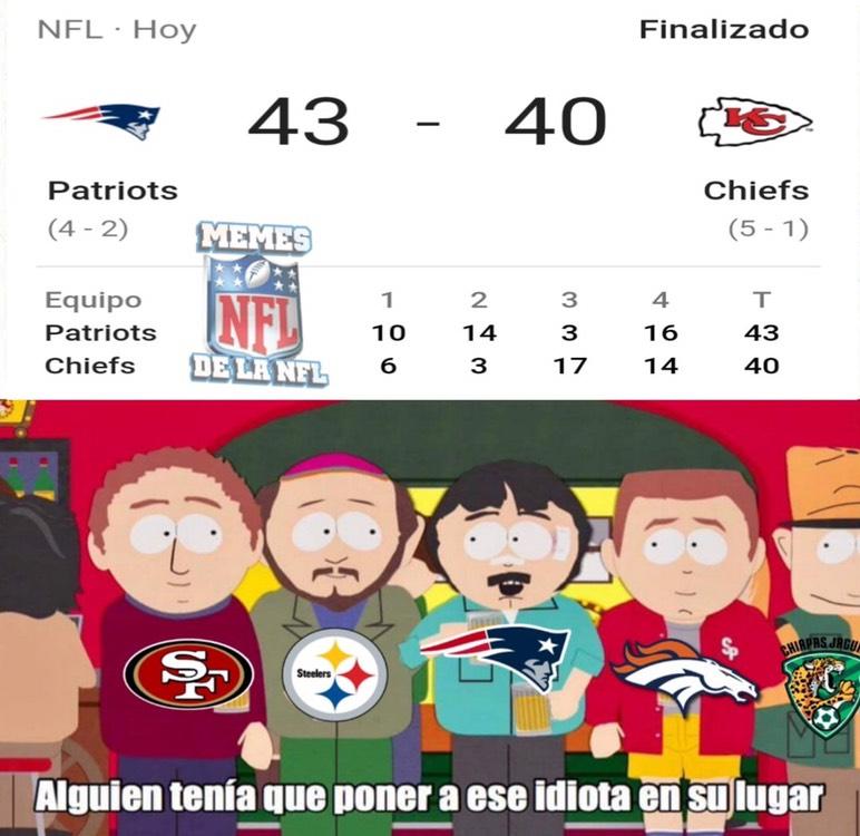 Memes de la NFL en la semana 6
