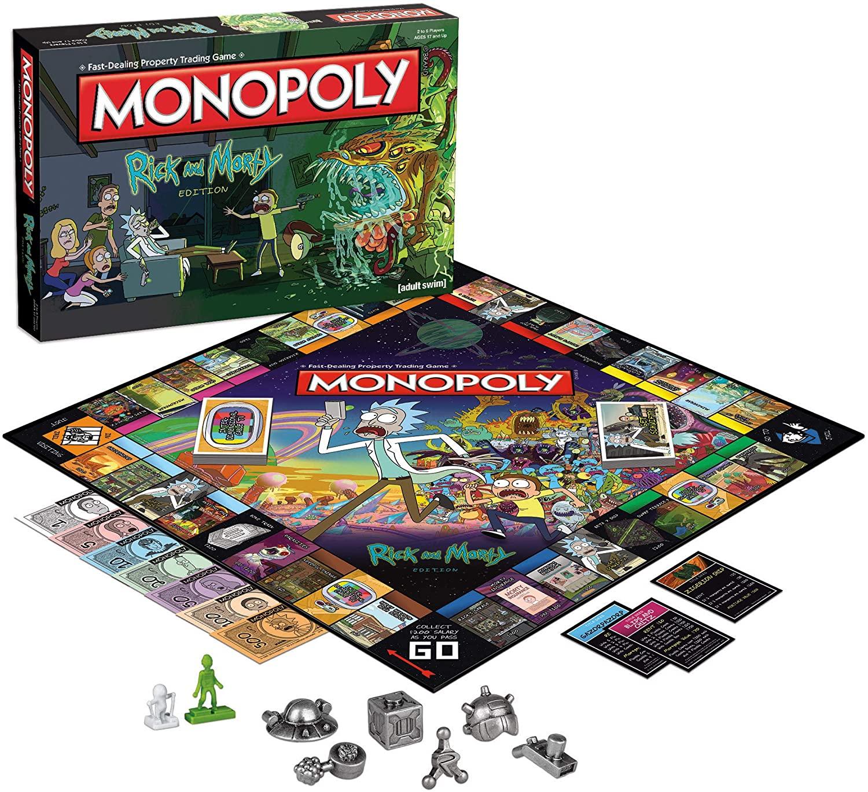 Monopoly Rick y Morty Amazon Ideas de regalos para el Día del Niño