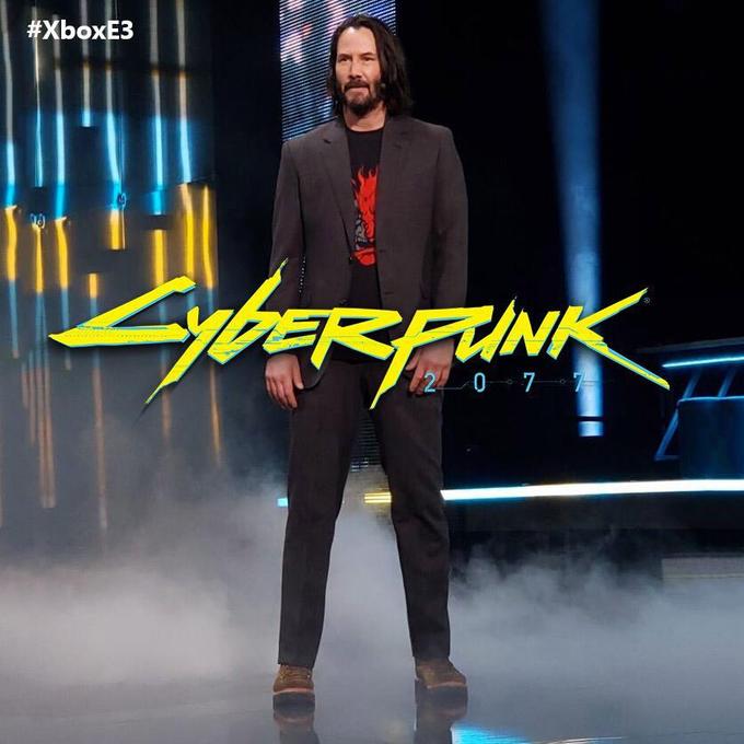 Keanu Reeves en E3 2019