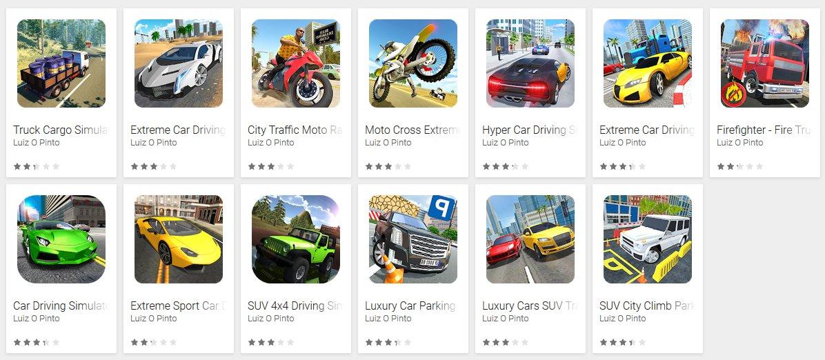 Juegos con virus en Play Store