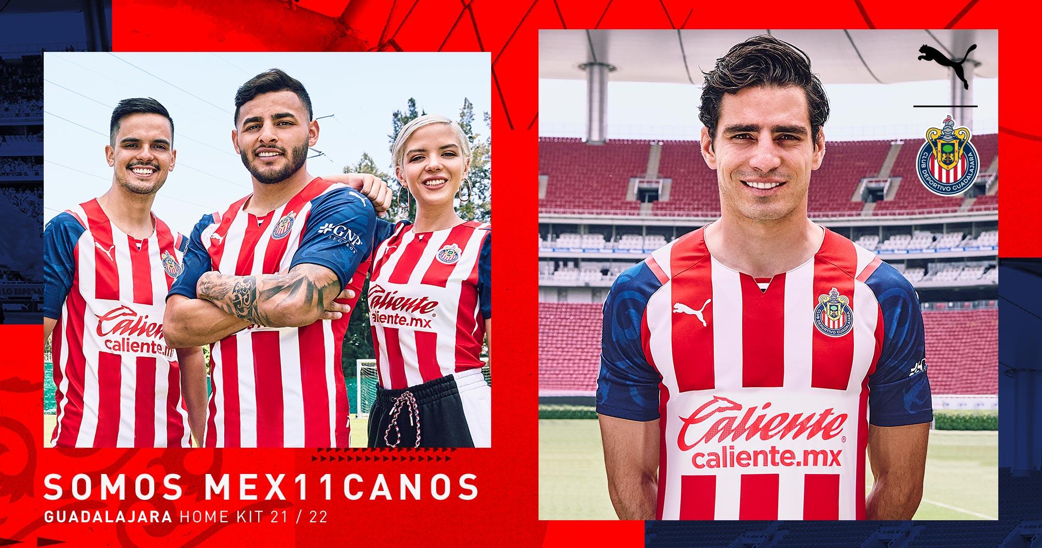 Jersey de local de Chivas para el Apertura 2021