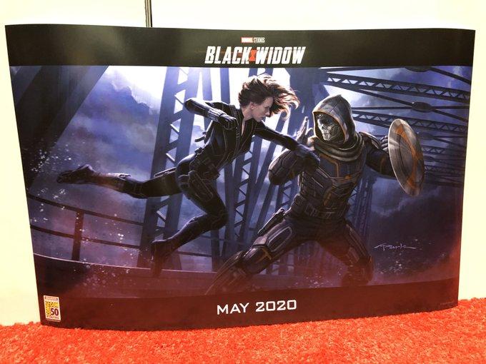 Arte conceptual de Black Widow con Taskmaster