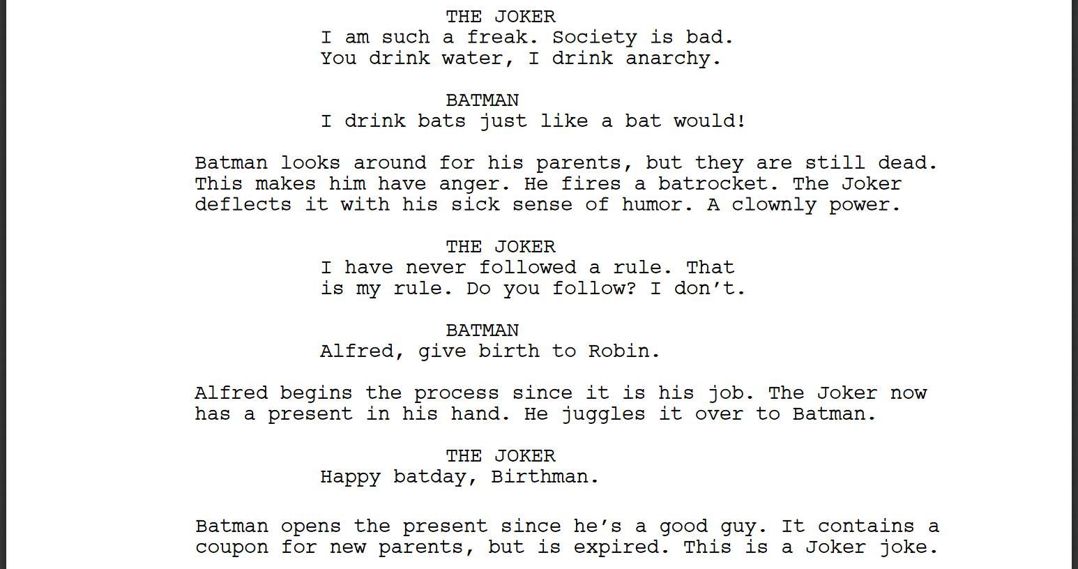 Bot de Inteligencia Artificial escribe guión para película de Batman