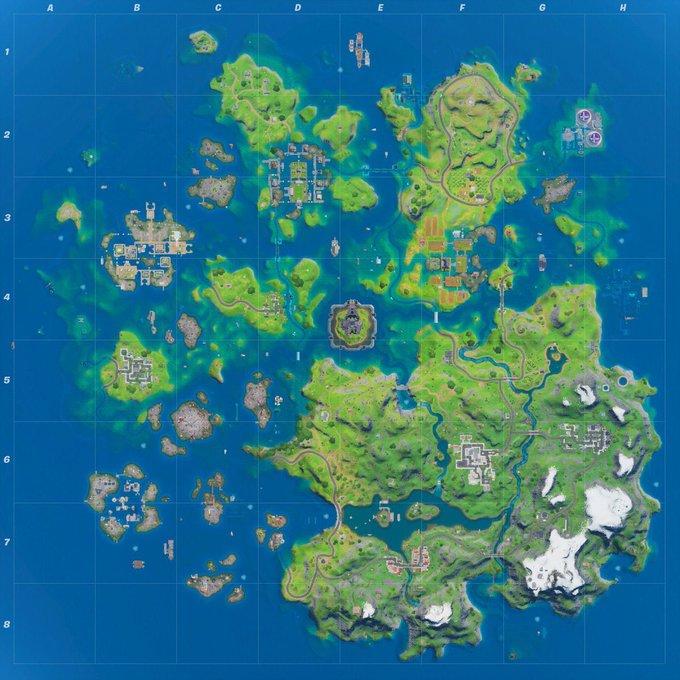 Mapa de Fortnite Capítulo 2, Temporada 3