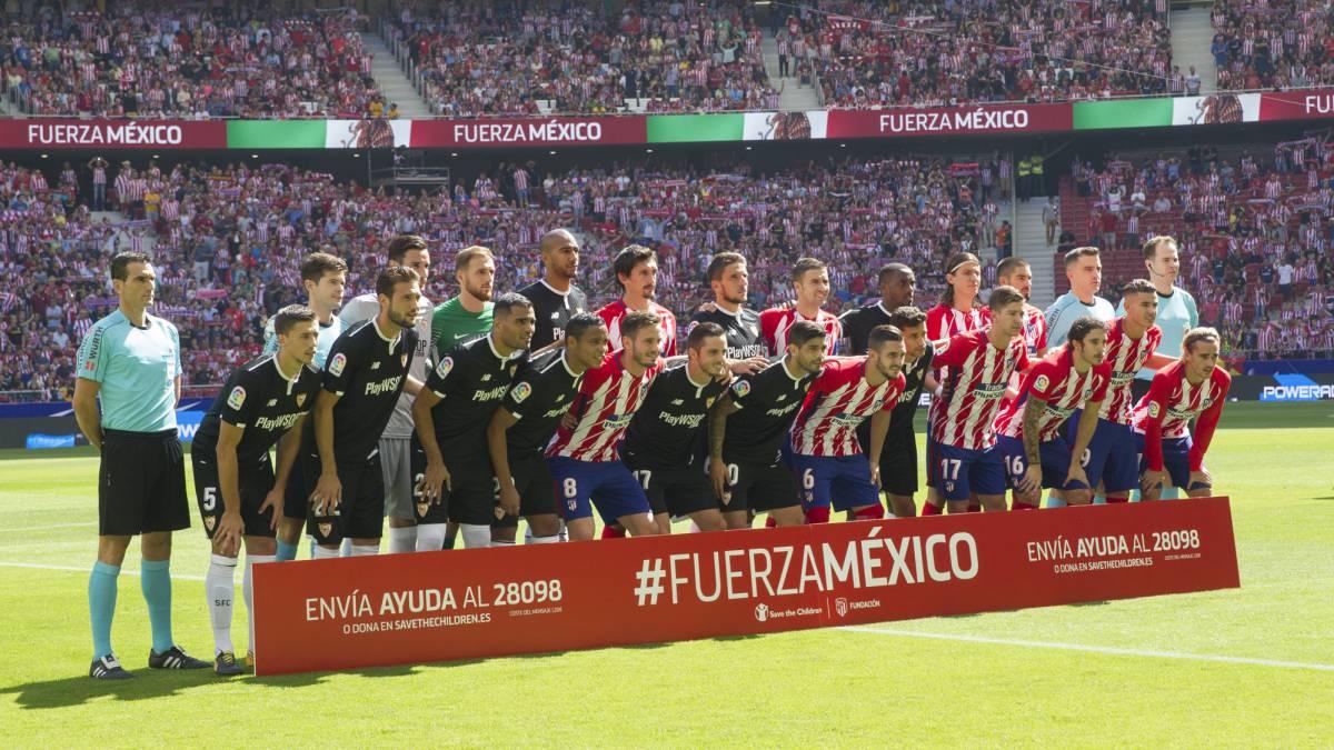 Atlético Madrid ayuda tras sismo CDMX