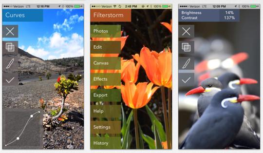 ha sido diseñado desde el principio para satisfacer tus necesidades de edición de imágenes en el iPad. Gracias a su interface de usuario único y adaptado al entorno multitouch, Filterstorm te permite una edición más intuitiva que con cualquier programa tradicional, con un juego de herramientas diseñado para el fotógrafo avanzado.