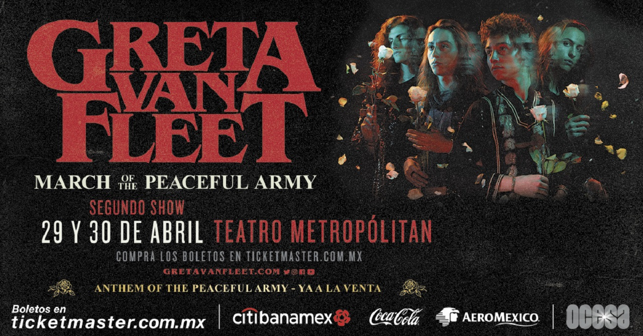 Greeta Van Fleet México 2019