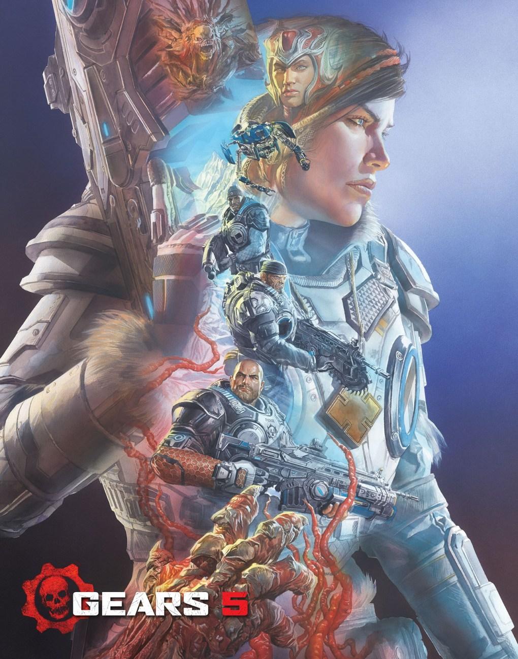 Póster de Gears 5 creado por Alex Ross
