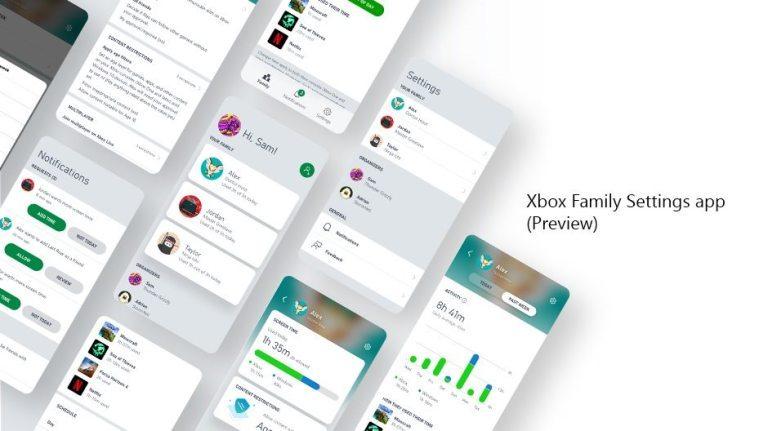 Xbox Configuración Familiar app