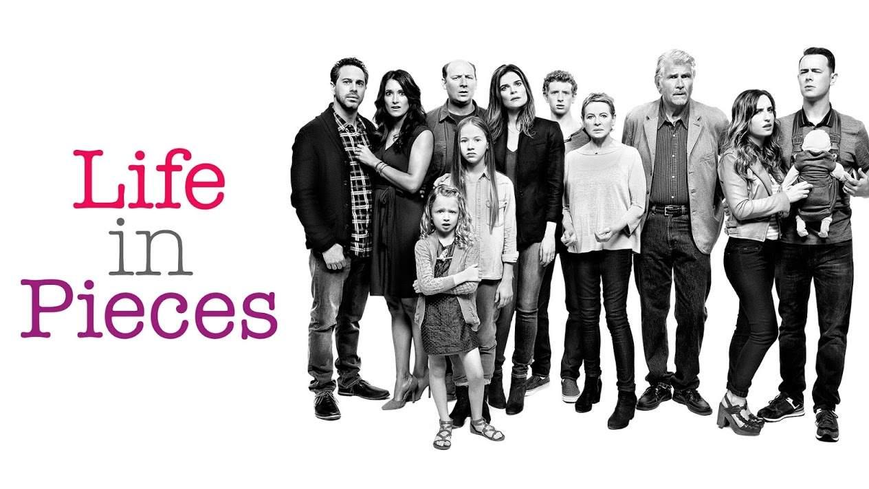 Promocional de Life in Pieces con el elenco completo
