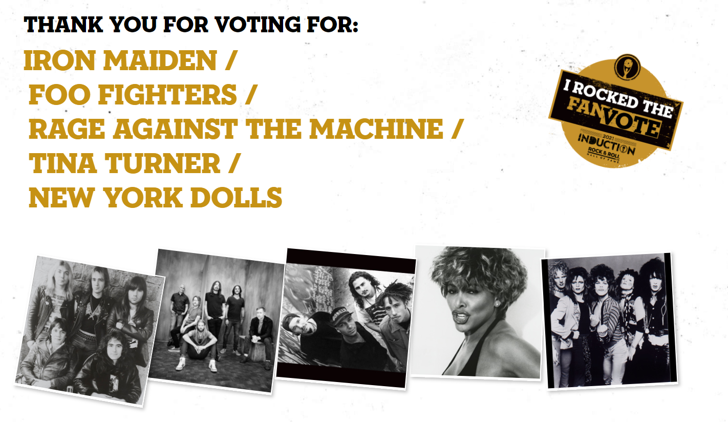 Rock and Roll Hall of Fame 2021: Lista de nominados