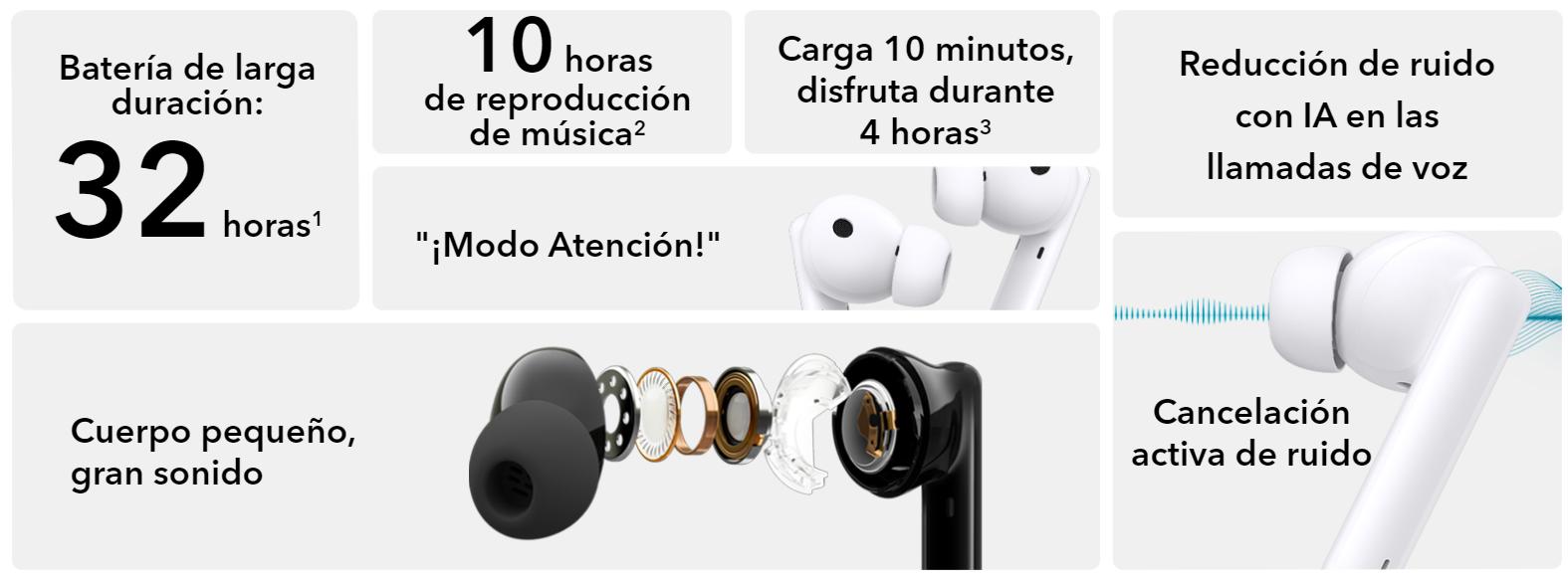 HONOR Earbuds 2 Lite: Batería que dura mucho y más a un precio muy económico