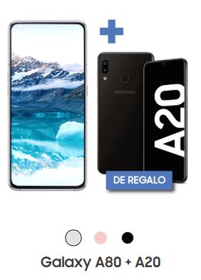 Samsung Galaxy A80 + Samsung Galaxy A20 por $16,999