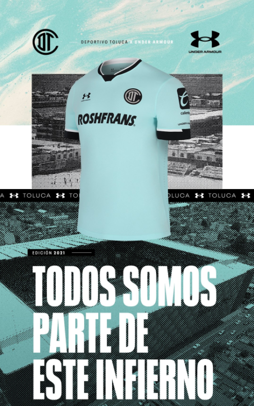Jersey alternativo de Toluca para el Apertura 2021