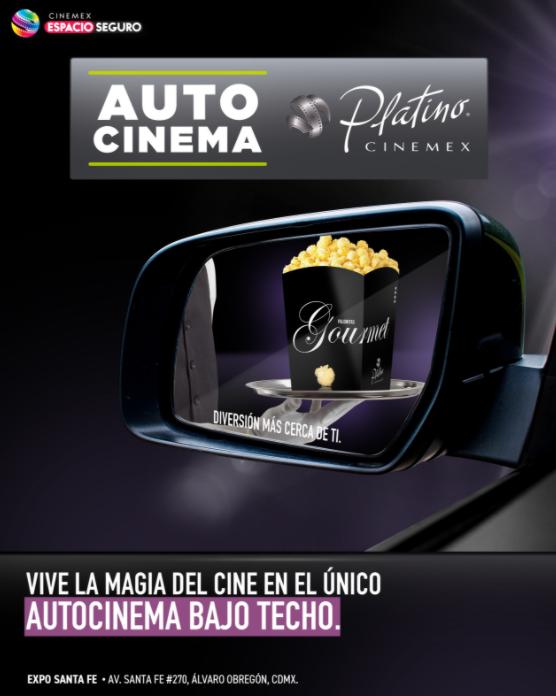 Cinemex estrena el primer Autocinema Platino en México